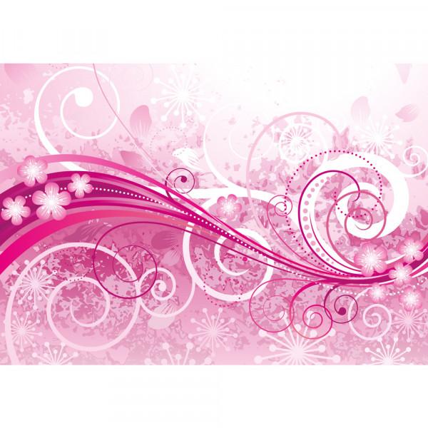 Vlies Fototapete Pink Floral OrnamentsOrnamente Tapete Ornamente Blumen Orchidee Rot Blumenranke