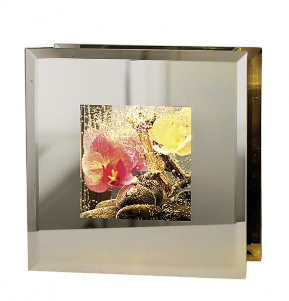 LED frame frames Smart Bahia Pink warm white light including 2 button cells 16x16 cm