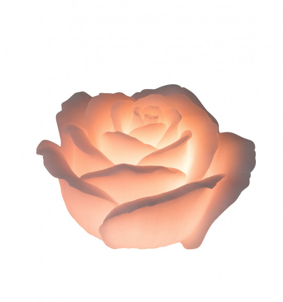 Gorgeous LED candle flameless candle in the shape of a rose color pink including timer height 12 cm