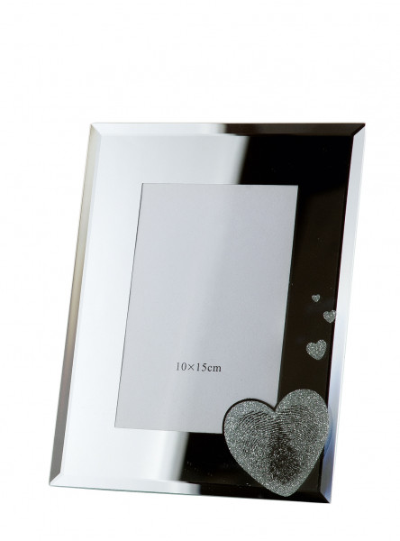 Modern picture frame photo frame fingerprint made of glass 10x15 cm
