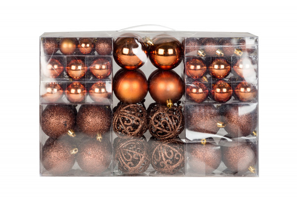 Exclusive Christmas balls Christmas tree balls 100 pack Color Brown top prize