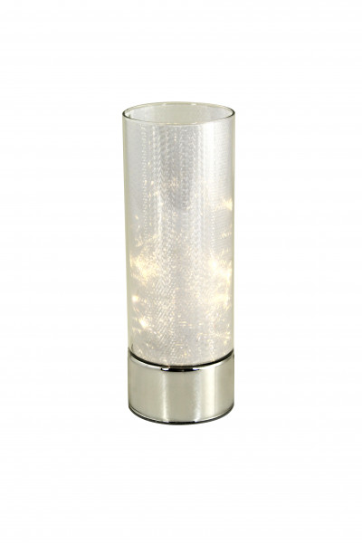 Modern LED mood lighting Table lighting Cylinder tube made of glass with holographic height 25 cm