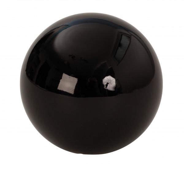 4 Piece Decorative balls black stainless steel diameter 10 cm