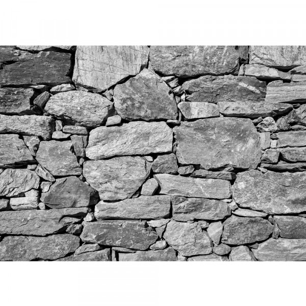 Vlies Fototapete Black and White Stone Wall Steinwand Tapete 3D pink