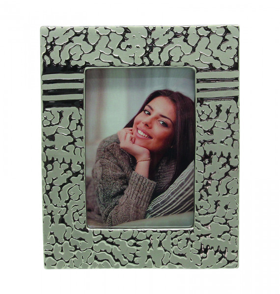 Modern picture frame photo frame 'St.Louis' made of ceramic silver 10x15 cm
