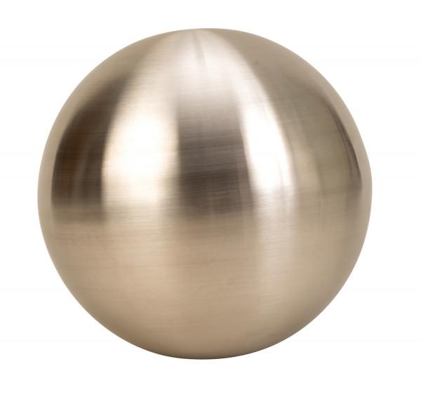 Modern decoration ball Garden decoration made of stainless steel in silver matt diameter 30 cm