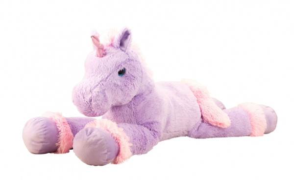 Cuddly Giant Plush Unicorn XXL 110 cm Long in violett, pink or purple
