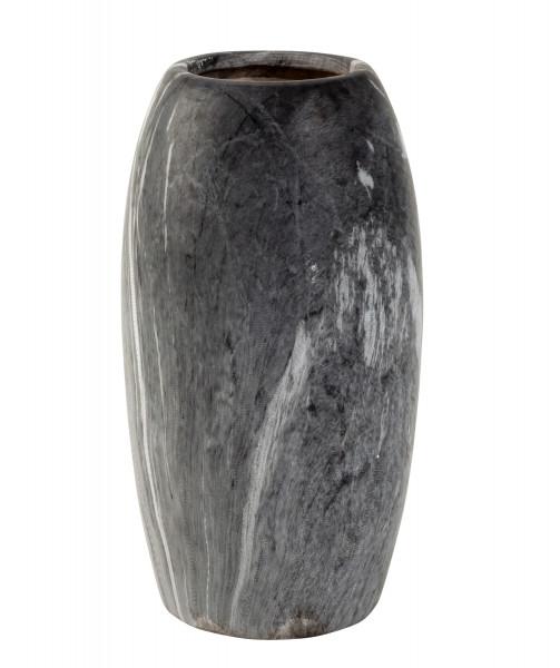 Moderne Dekovase Blumenvase Tischvase Vase aus Keramik marmoriert grau/weiß Höhe 21 cm
