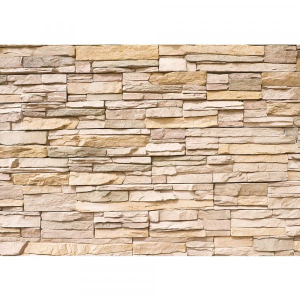 Asian Stone Wall Steinwand Tapete Steinwand Steinoptik Stein Steine Wand Wall 3D Steintapete beige