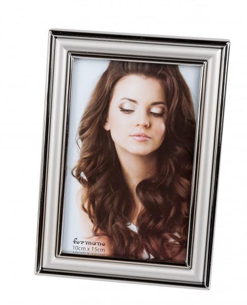 Moderner Bilderrahmen Fotorahmen aus Aluminium silber glänzend/matt 10x15 cm