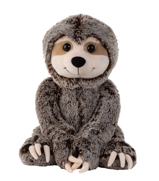 Large sloth cuddly toy plush toy with velcro on hands gray / brown 60 cm tall and velvety soft