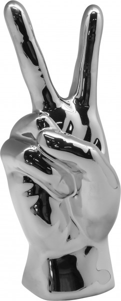 Sculpture Deco figure Victory ceramic silver or white Height 25 cm * 1 piece *