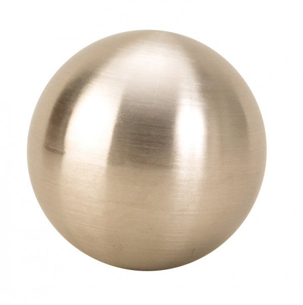 6 pieces modern decoration balls made of stainless steel in silver matt diameter 6 cm