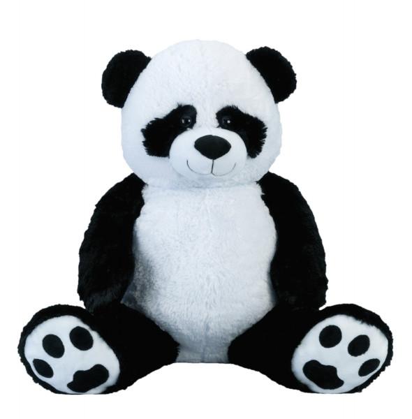 Riesen Pandabär Kuschelbär XXL 100 cm groß Plüschbär Kuscheltier Panda samtig weich - zum liebhaben