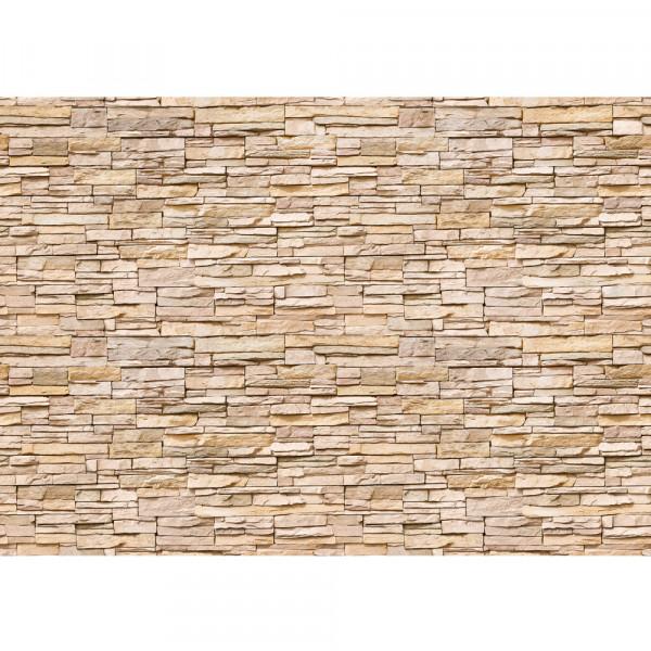 Vlies Fototapete Asian Stone Wall 2 - natural – anreihbar Steinwand Tapete Steinoptik Wall natural