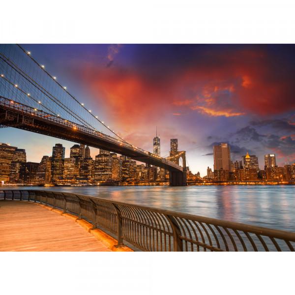 Vlies Fototapete New York Bridges Skyline USA Tapete New York City USA Empire State Building