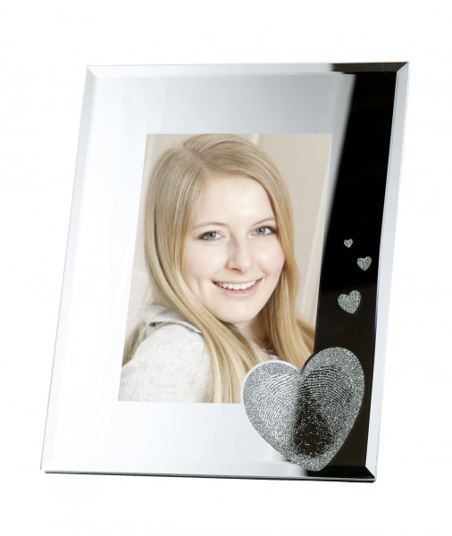 Modern picture frame photo frame fingerprint made of glass 13x18 cm