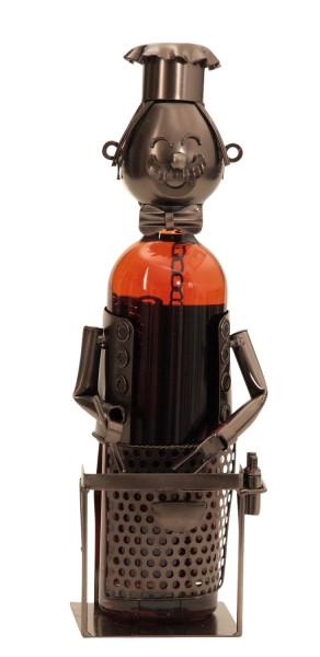 Extravaganter Wein Flaschenhalter Barbecue aus Metall Höhe 34 cm