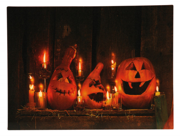 Cool LED Picture Halloween with beautiful Lighting 30x40 cm