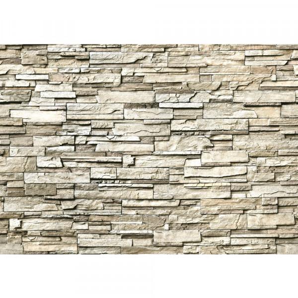 Vlies Fototapete Noble Stone Wall - beige - anreihbar Steinwand Tapete Steinoptik Stein Wand Wall