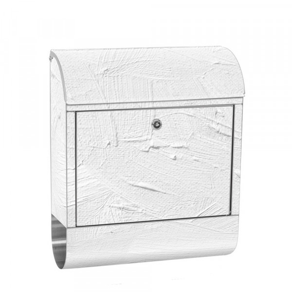 Stainless Steel Letterbox with Newspaper roll & Motif Wiping Technique colored | No. 0111