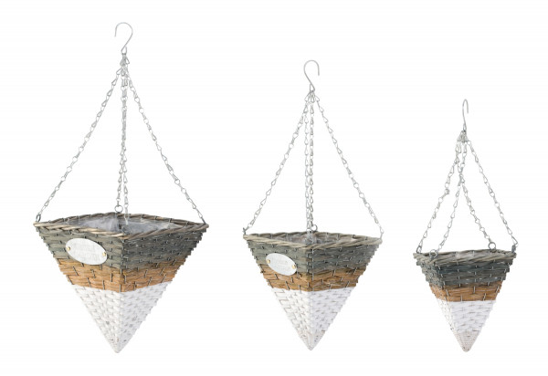 Hanging basket plants Hanging containers Hanging basket in a set of 3 Height 60-75cm Width 20-28cm