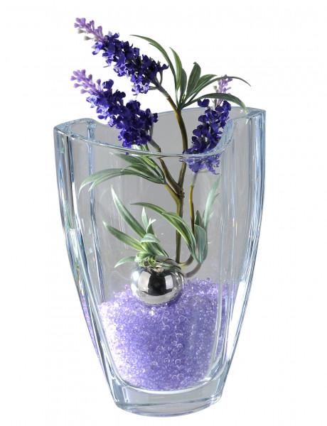 Modern deco vase flower vase table vase made of heavy lead crystal glass hand blown clear height 23