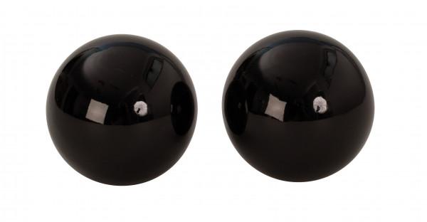 6 Stück moderne Deko Kugeln schwarz aus Edelstahl Durchmesser 6 cm