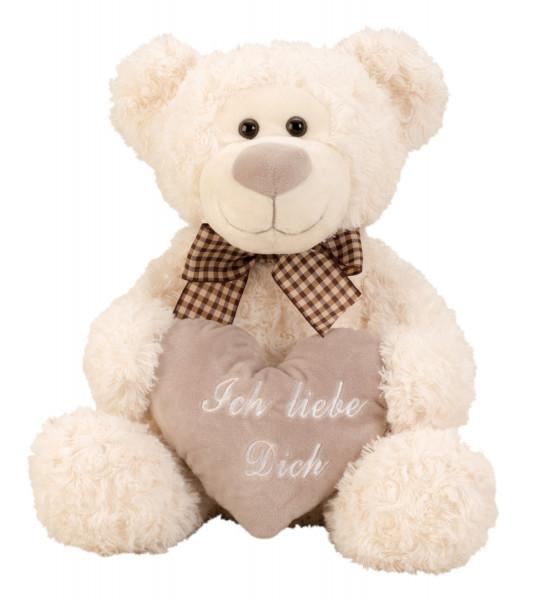 Kuscheliger Teddybär Plüschbär 32 cm groß mit Herz Ich Liebe Dich