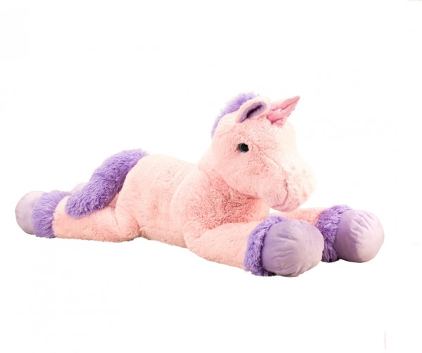 Cuddly Giant Plush Unicorn XXL 110 cm Long in pink, pink or purple