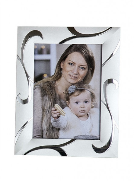 Modern picture frame aluminum photo frame silver 10x15 cm