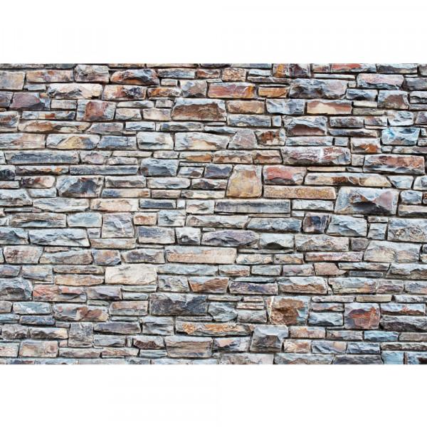 Vlies Fototapete Steinwand Tapete Steinwand Steinoptik Steine Wand Mauer Steintapete anthrazit