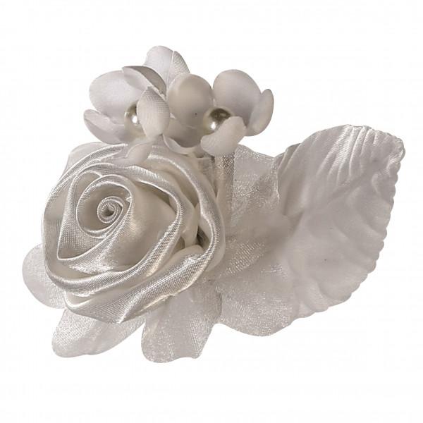 Hochzeitsanstecker Weiße Rose Gästeanstecker Hochzeit Anstecker für die Hochzeitsgäste 4 Stück Breit