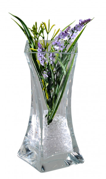Modern deco vase flower vase table vase made of heavy lead crystal glass mouth blown clear height 25