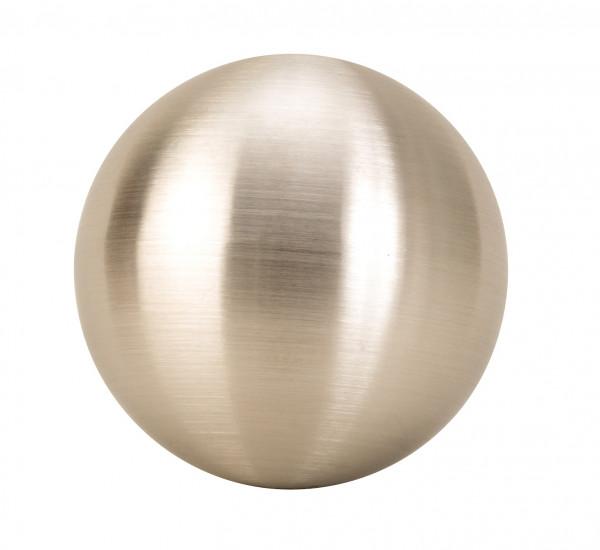 4 Stück moderne Deko Kugeln aus Edelstahl in silber matt Durchmesser 10 cm