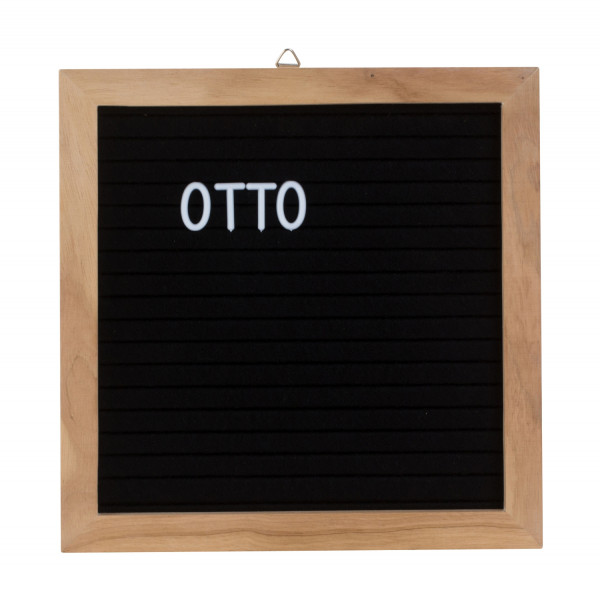 Memo board Letter board made of wood Black letters Board board Board with 288 letters