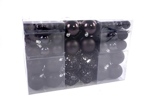 Exclusive Christmas balls Christmas tree balls 100 pack Color Black top prize