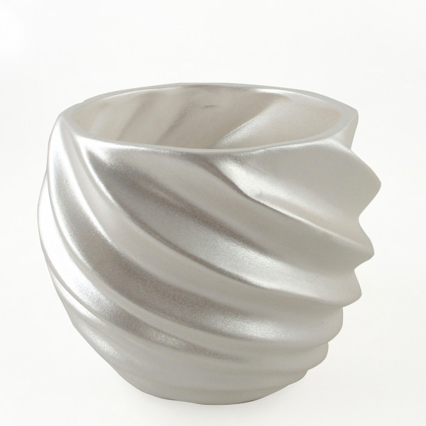 Planter planter Vase for flowers made of ceramic in the color white 16,5x16,5x13,5 cm