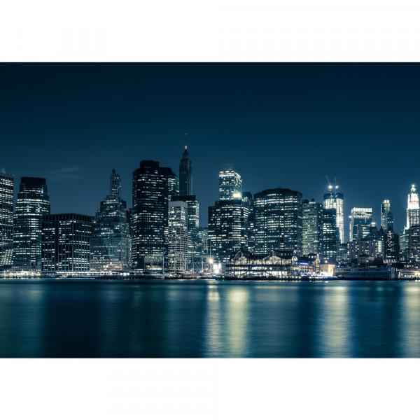 Vlies Fototapete New York Blue Night Skyline USA Tapete New York City USA Empire State Building