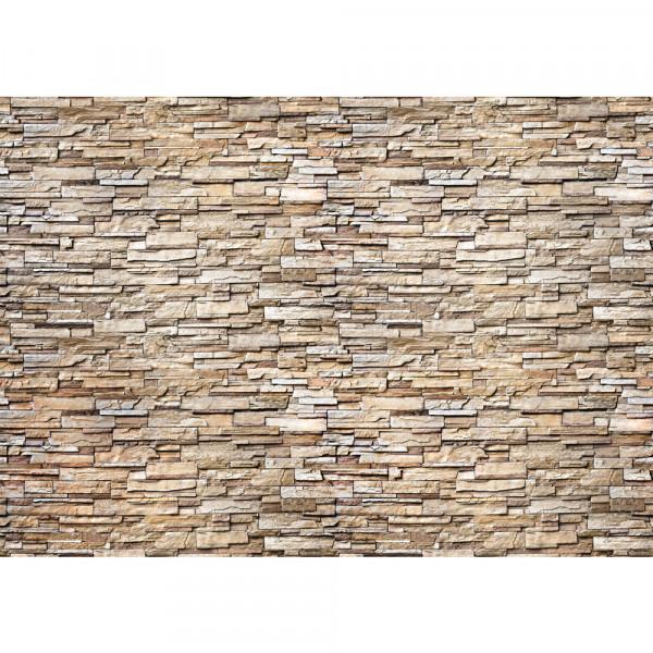 Vlies Fototapete Noble Stone Wall 2 - natural - anreihbar Steinwand Tapete Steinoptik Stein Wand
