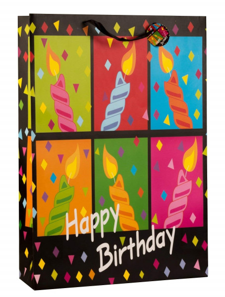 Huge XXL gift box Happy birthday in a set of 2 dimensions 50x72x16cm