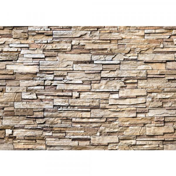 Vlies Fototapete Noble Stone Wall - natural - anreihbar Steinwand Tapete Steinoptik Stein Wand Wall