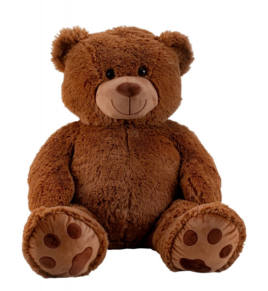 Riesen Teddybär Kuschelbär XXL 100 cm groß Plüschbär Kuscheltier samtig weich dunkelbraun - zum lieb