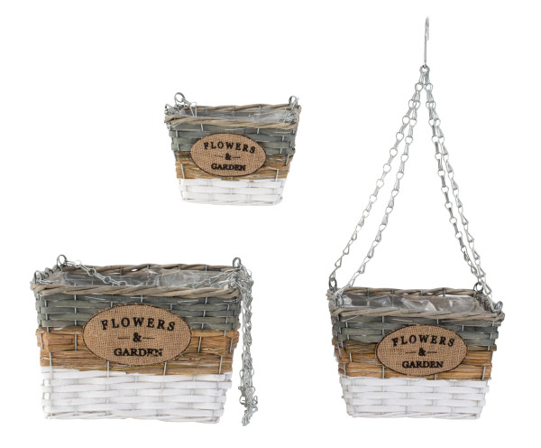 Hanging basket plants Hanging containers Hanging basket in a set of 3 Height 48-63cm Width 18-29cm
