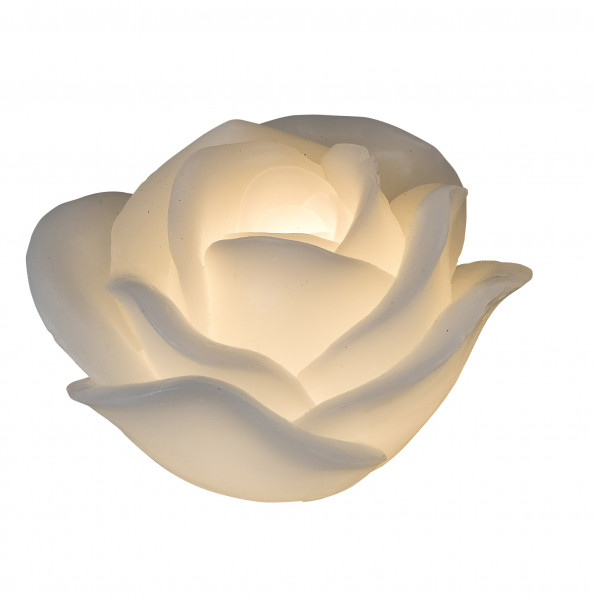 Gorgeous LED Candle flameless Candle Rose white including Batteries and Timer Height 11 cm