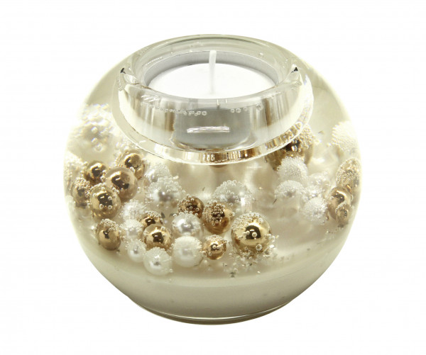 Modern tealight holder Glass lantern holder diameter 9 cm