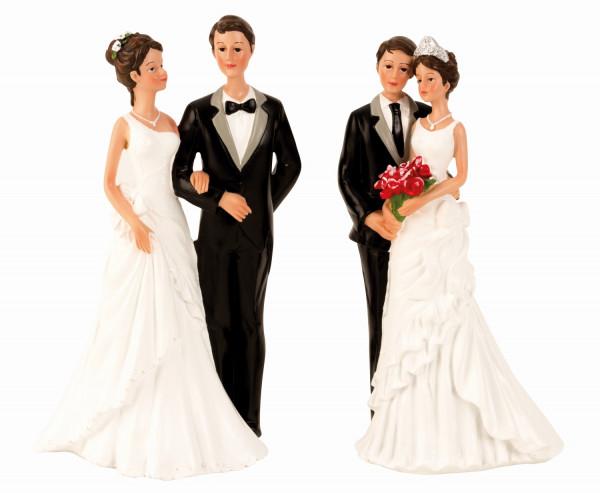 Deko Figur Hochzeitspaar stehend Höhe 21-22 cm