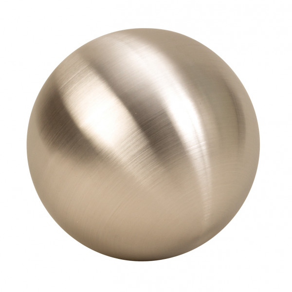 2 pieces modern decoration balls made of stainless steel in silver matt diameter 15 cm