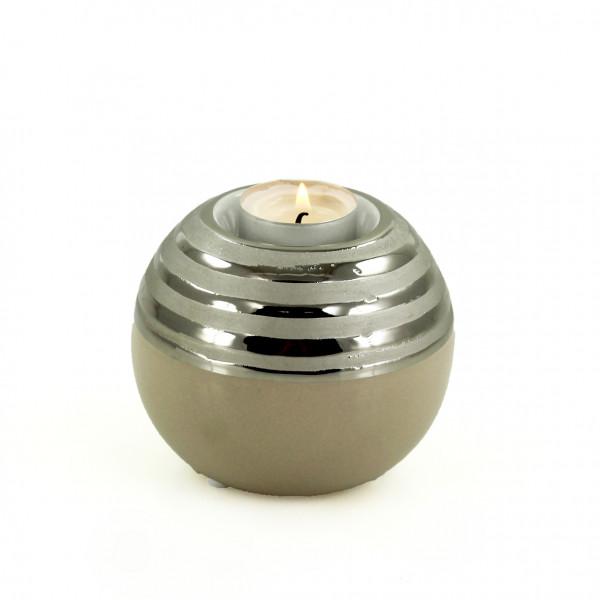 Modern tealight holder tealight holder Ceramic lantern holder round 11x11x9 cm
