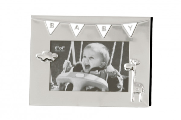 Moderner Bilderrahmen Fotorahmen BABY aus Aluminium 16x21cm für Bilder im Format 10x15cm